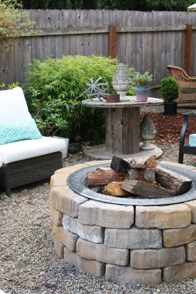 How To Make DIY Fire Pit In Garden With Low Budget 44
