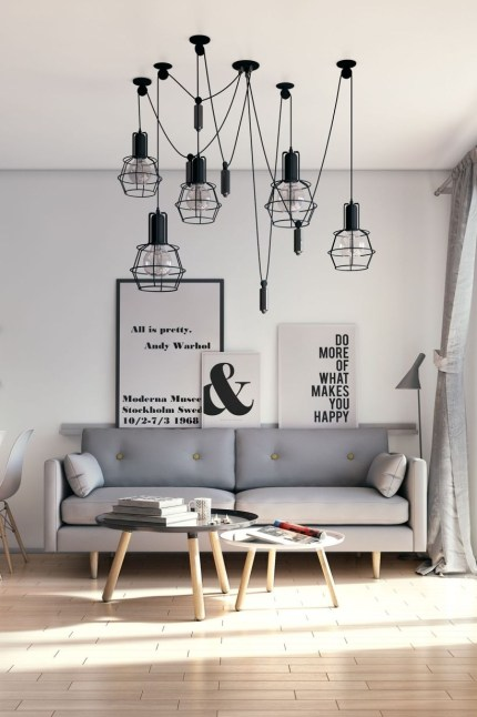 Light And Style Scandinavian Living Room Design 12