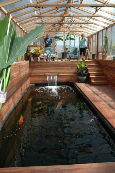 Amazing Indoor Fish Pond To Upgrade Your House 43