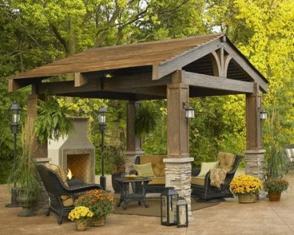 Best Backyard Gazebo Made From Pallets 16