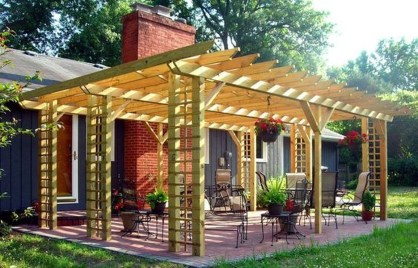 Best Backyard Gazebo Made From Pallets 26