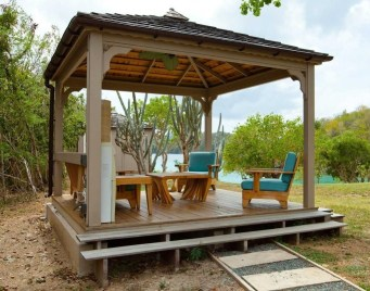 Best Backyard Gazebo Made From Pallets 27