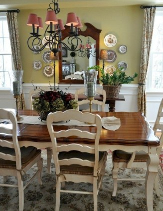 Best Decoration French Farmhouse Dining Room Design 17