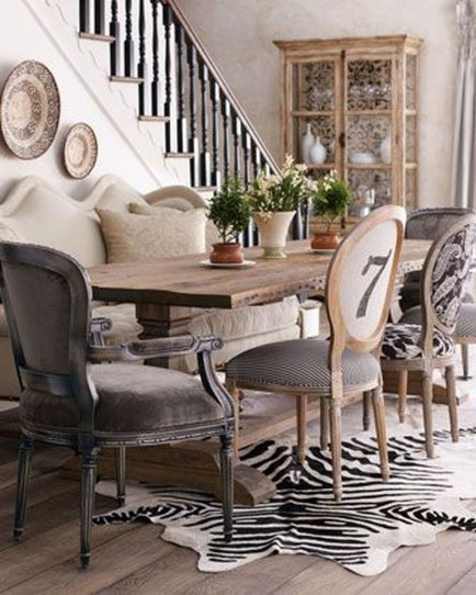 Best Decoration French Farmhouse Dining Room Design 32