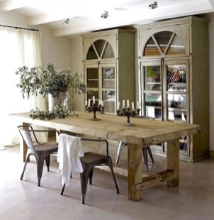 Best Decoration French Farmhouse Dining Room Design 40