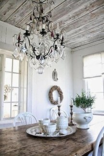Best Decoration French Farmhouse Dining Room Design 49
