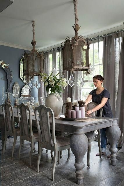 Best Decoration French Farmhouse Dining Room Design 53