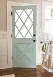 Farmhouse Door Design For Decorating Your House 33