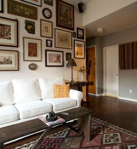 How To Create Wall Gallery In Above The Sofa 28