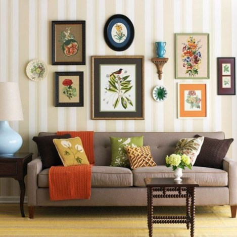 How To Create Wall Gallery In Above The Sofa 29