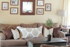 How To Create Wall Gallery In Above The Sofa 45