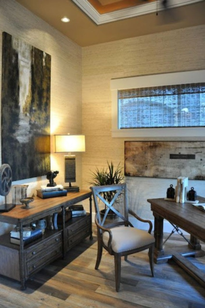 44 Modern Rustic Decorating Ideas For Your Home Office 07