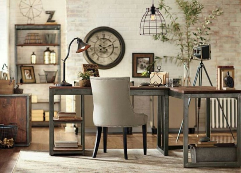 44 Modern Rustic Decorating Ideas For Your Home Office 09