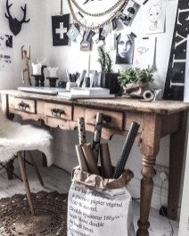44 Modern Rustic Decorating Ideas For Your Home Office 20