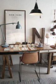 44 Modern Rustic Decorating Ideas For Your Home Office 29