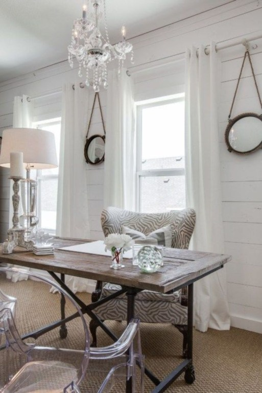 44 Modern Rustic Decorating Ideas For Your Home Office 33