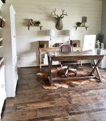 44 Modern Rustic Decorating Ideas For Your Home Office 34