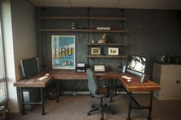 44 Modern Rustic Decorating Ideas For Your Home Office 35