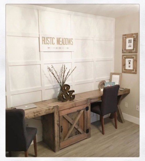 44 Modern Rustic Decorating Ideas For Your Home Office 41