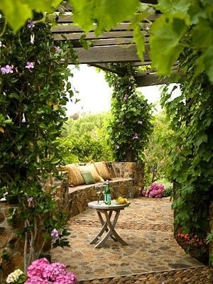 A Cozy Backyard France Terrace Ideas 39