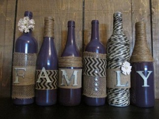 Amazing Inspiration With Bottle Christmas Vases You Can Try 03
