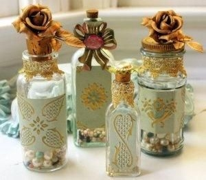 Amazing Inspiration With Bottle Christmas Vases You Can Try 12