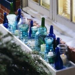 Amazing Inspiration With Bottle Christmas Vases You Can Try 15