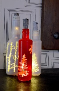 Amazing Inspiration With Bottle Christmas Vases You Can Try 17
