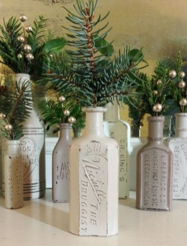 Amazing Inspiration With Bottle Christmas Vases You Can Try 21