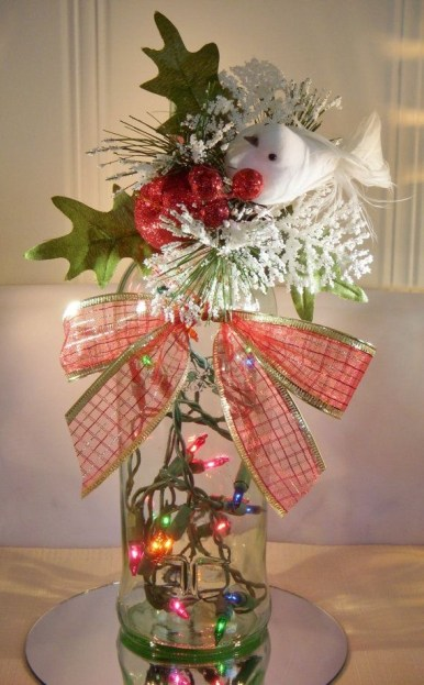 Amazing Inspiration With Bottle Christmas Vases You Can Try 27