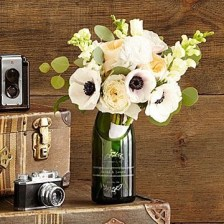 Amazing Inspiration With Bottle Christmas Vases You Can Try 33