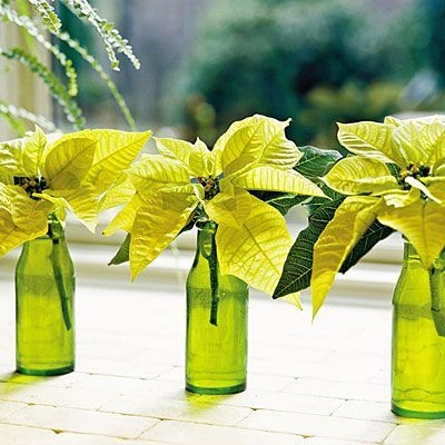 Amazing Inspiration With Bottle Christmas Vases You Can Try 46