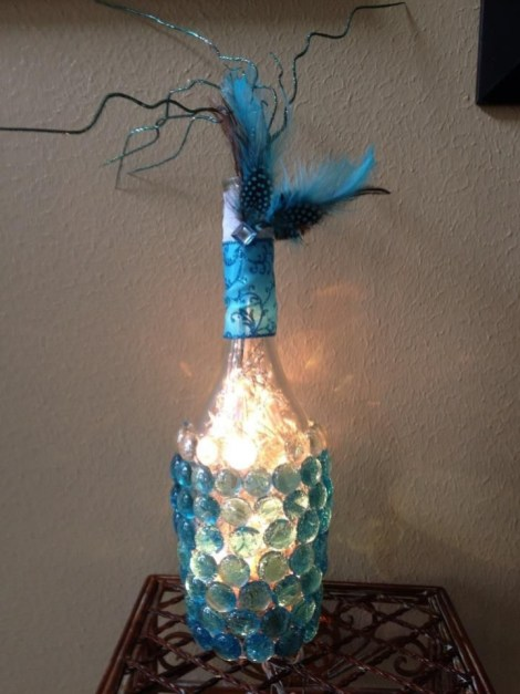 Amazing Inspiration With Bottle Christmas Vases You Can Try 47