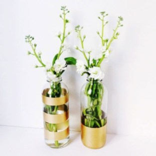 Amazing Inspiration With Bottle Christmas Vases You Can Try 49