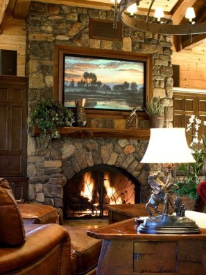 Best Decorating Ideas For Winter Fireplace 52