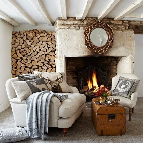 Best Decorating Ideas For Winter Fireplace 53