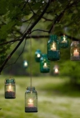 Best Garden Decorate With Some DIY Hanging Lights 49