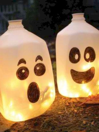 Best Ghost Silhouette DecorIideas To Haunt Your Guests 03