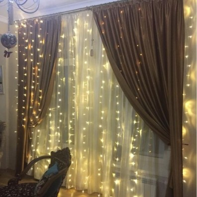 Better Homes And Gardens With Outdoor LED Curtain Lights 19