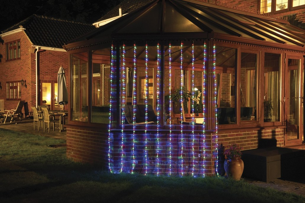 Better Homes And Gardens With Outdoor LED Curtain Lights 22
