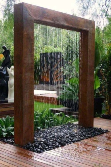 DIY Wood Project For Landscaping Backyard Ideas 05