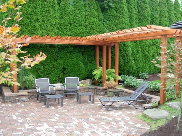 DIY Wood Project For Landscaping Backyard Ideas 45