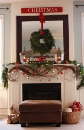Gorgeous Christmas Mantel For Fireplace Decorate In Your House 03