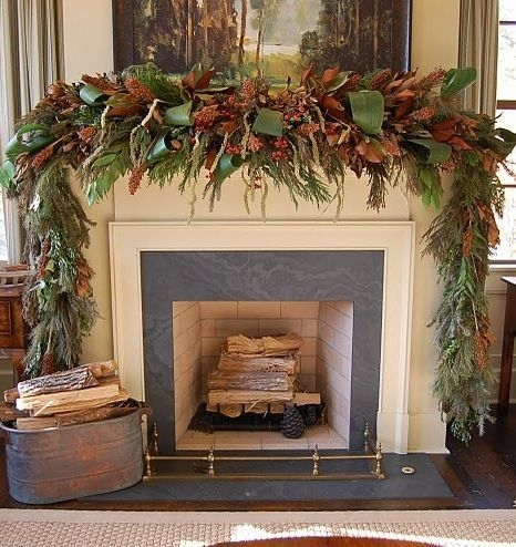Gorgeous Christmas Mantel For Fireplace Decorate In Your House 11