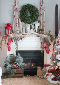 Gorgeous Christmas Mantel For Fireplace Decorate In Your House 14