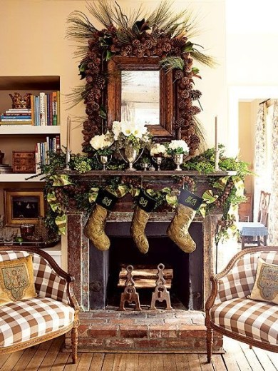 Gorgeous Christmas Mantel For Fireplace Decorate In Your House 23