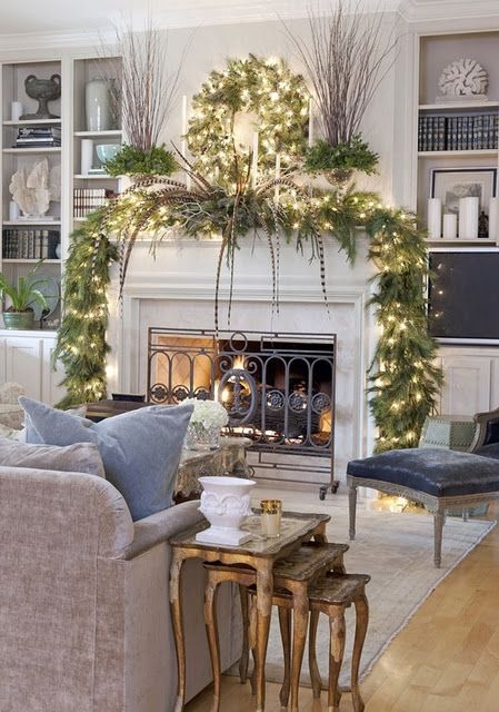 Gorgeous Christmas Mantel For Fireplace Decorate In Your House 27