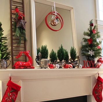 Gorgeous Christmas Mantel For Fireplace Decorate In Your House 28