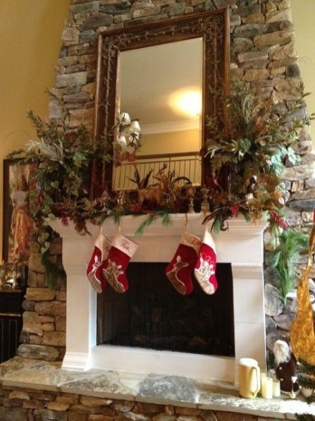 Gorgeous Christmas Mantel For Fireplace Decorate In Your House 30