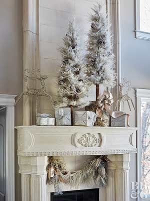Gorgeous Christmas Mantel For Fireplace Decorate In Your House 46